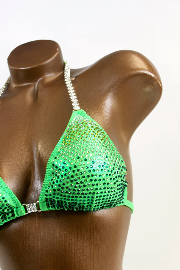 Gradient Lime Green Bikini Suit by Budgetbikinis