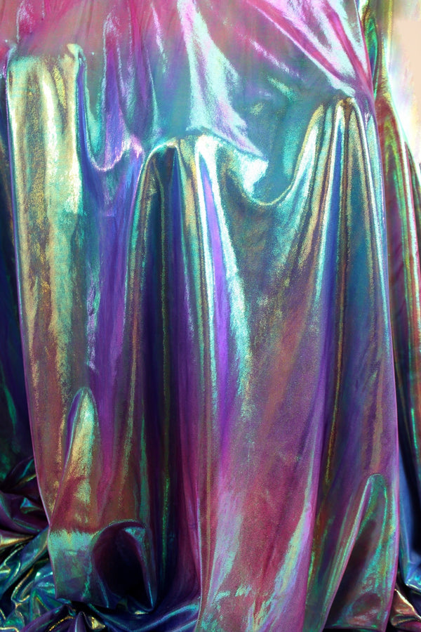 Iridescent Ombe Foil Spandex