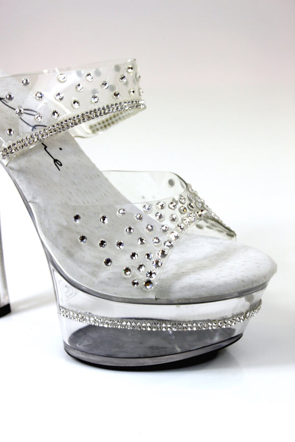 Final Sale Rhinestone Trim Sparkling Shoes