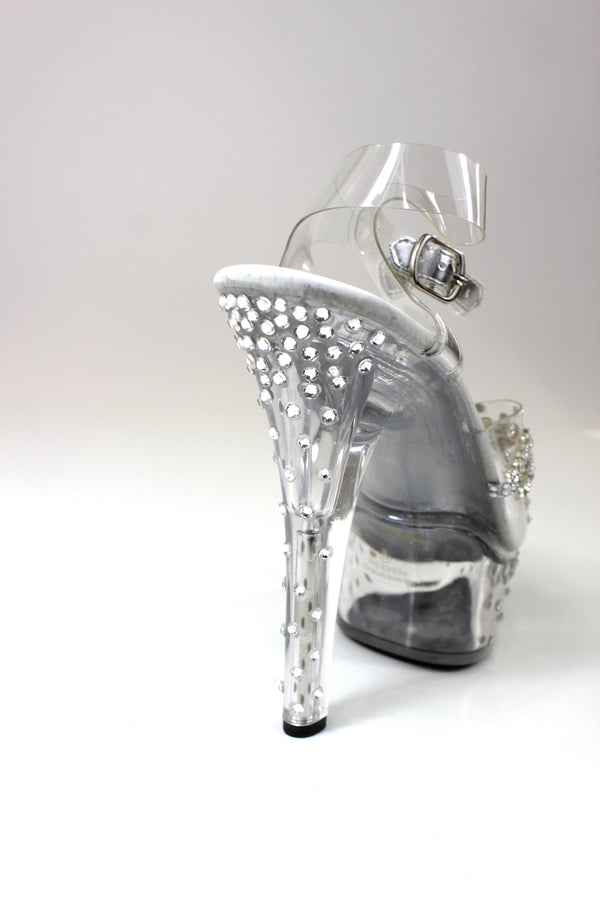 Cascading Rhinestone Heels Competition Shoes