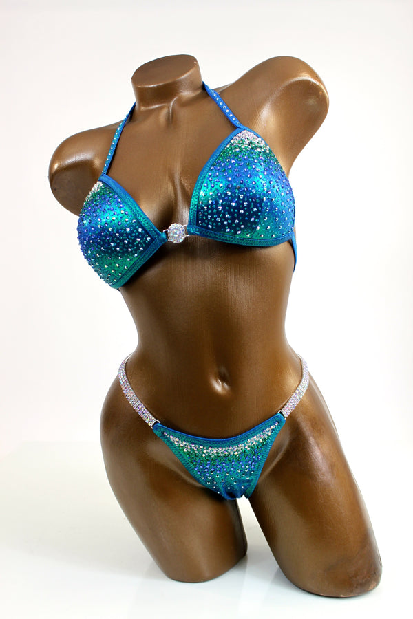 Blue/Green Mystique Bikini Suit