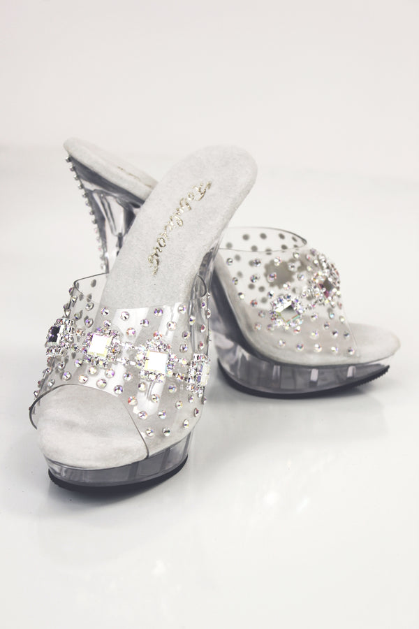 Square AB Rhinestone Shoes 5