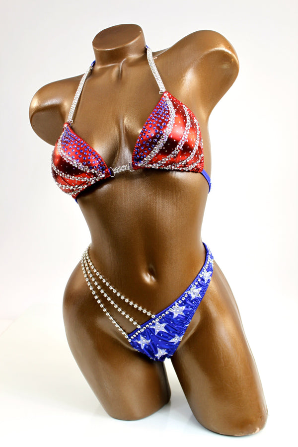 USA Flag Figure Competition Suit