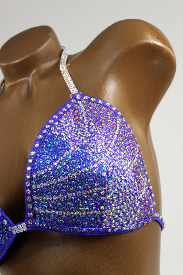 Periwinkle Ombre Figure Competition Suit