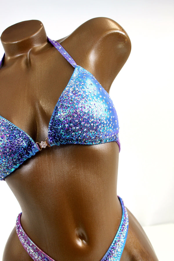 Iridescent Ombre Figure Competition Suit