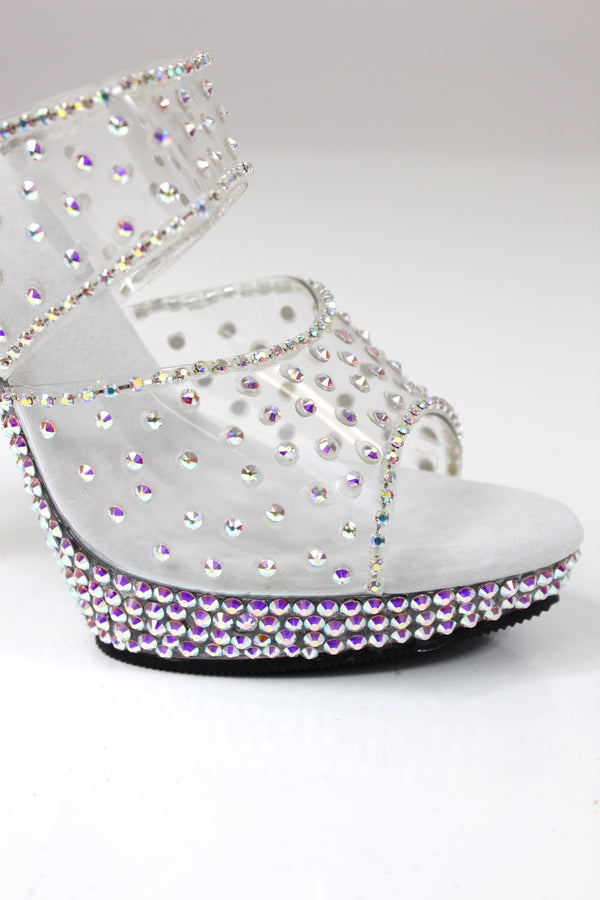 Rhinestone Encrusted Competition Heels