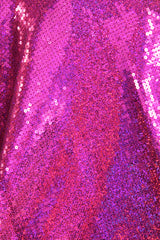 Fuchsia Sequined Poly/Spandex