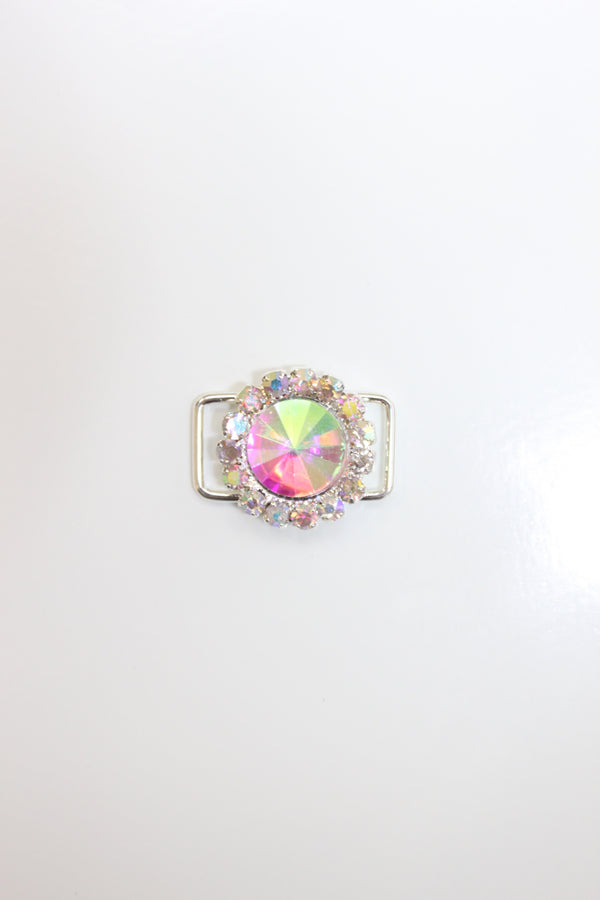 Small AB Rhinestone Flower Connector
