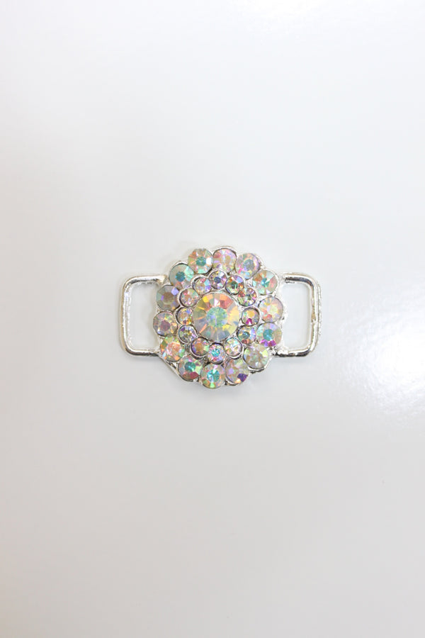 Crystal AB Rhinestone Flower Connector