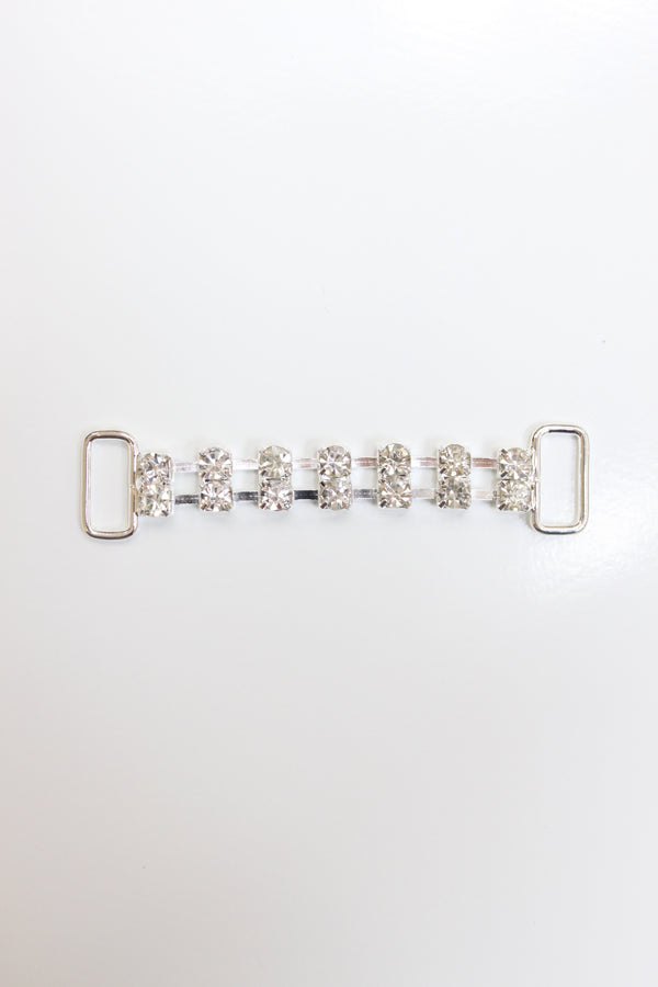 Double Rhinestone Chain Connector, Crystal Clear, 2 1/4""