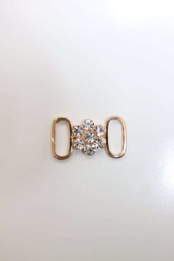 Rose Gold Small Flower Rhinestone Connector
