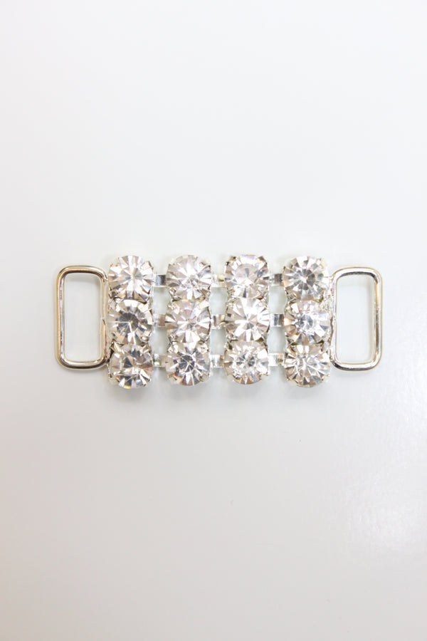 Triple Crystal Clear Rhinestones connector,size 29SS