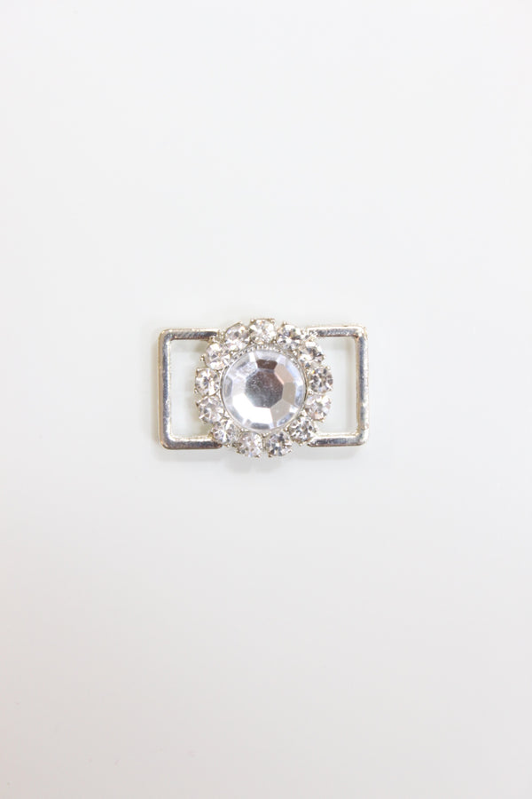 Small Crystal Clear Rhinestone Flower Connector