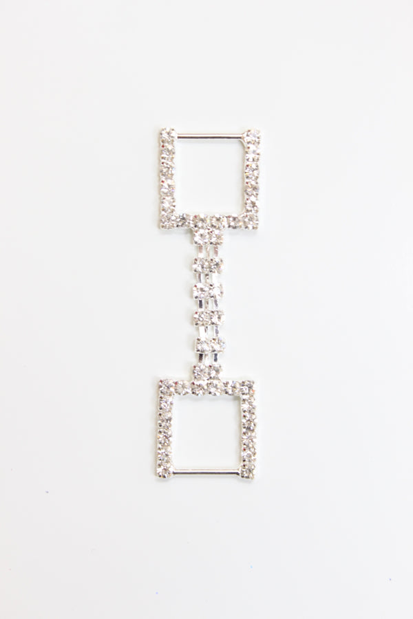 Square Sides Rhinestone Connector