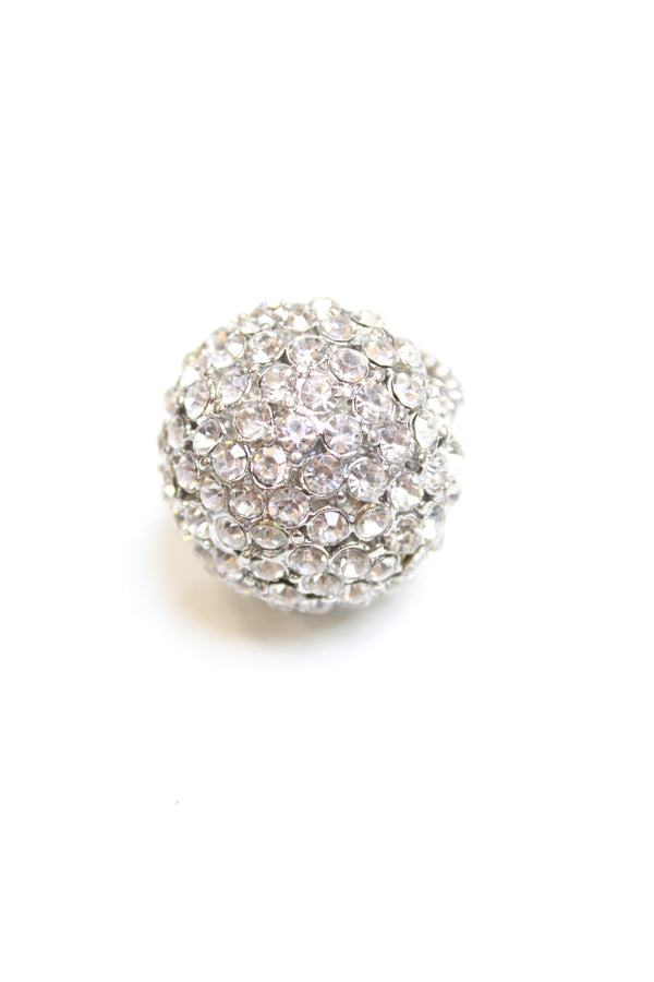 Rhinestone Dome Stretchable Ring