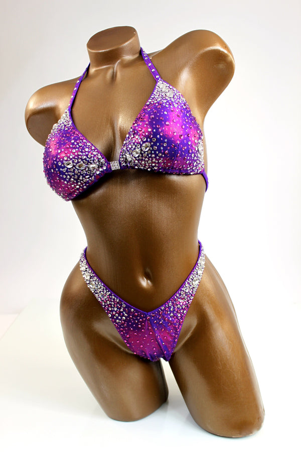Purple Grape Figure Competition Suit