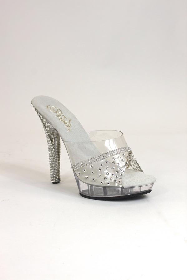 Crystal Rhinestone Mesh Heel Competition Shoes