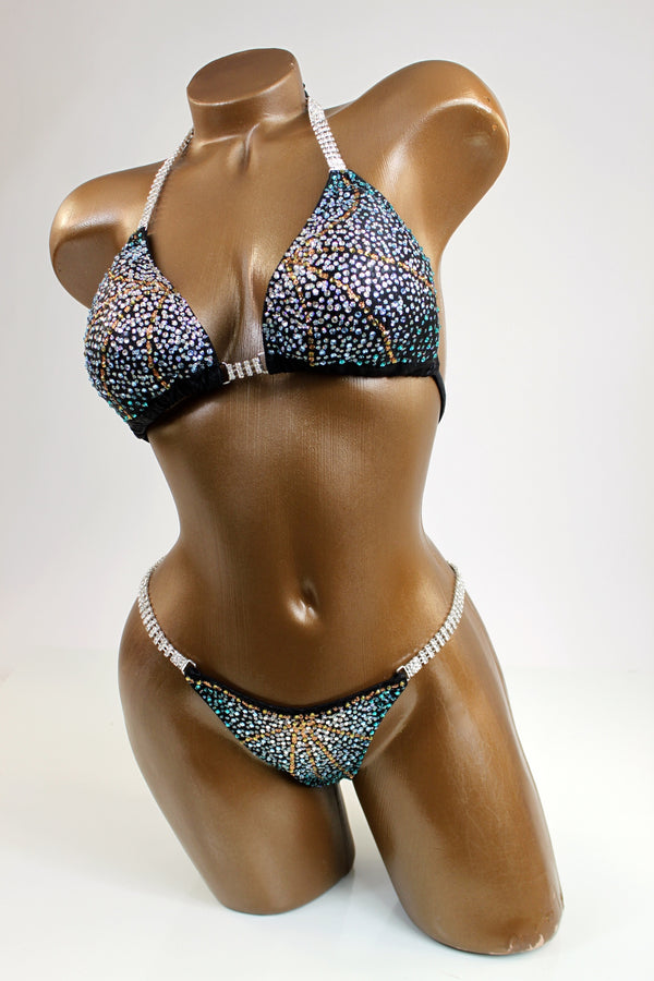 Mystique Copper Lines Bikini Suit