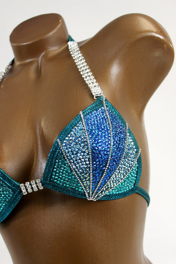 Innovative Crystal Lines Bikini Suit
