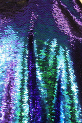 Dark Teal Sequin Fishscale Poly/Spandex