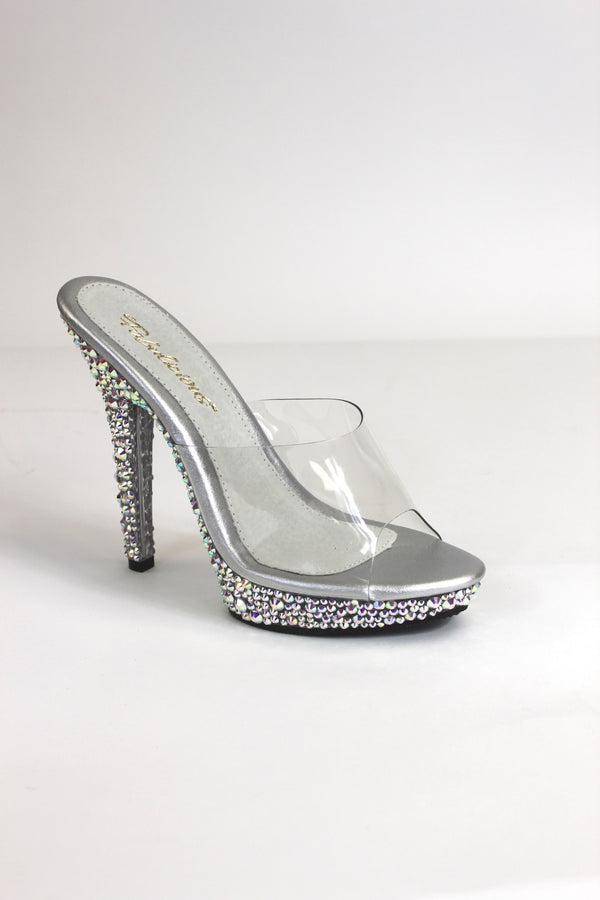 Crystal AB Rhinestone Encrusted Competition Shoes
