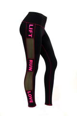 Pink Lift-Run-Love Leggings