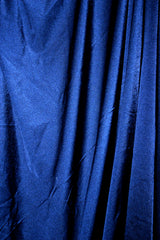 Midnight Blue Satin Spandex