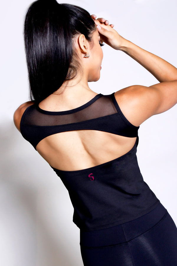 Mind-Body-Fit Backless Top