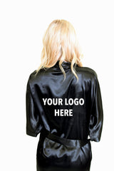Custom Vinyl Logo Satin Robe