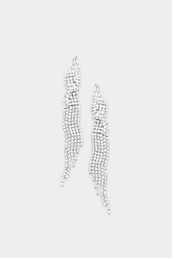 Marquise Crystal Clear Pave Earrings