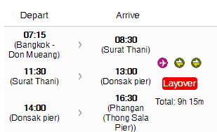 Thailand Air Asia Island Transfer