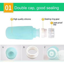 Load image into Gallery viewer, Silicone Travel Toiletry Bottle (Set of 3)