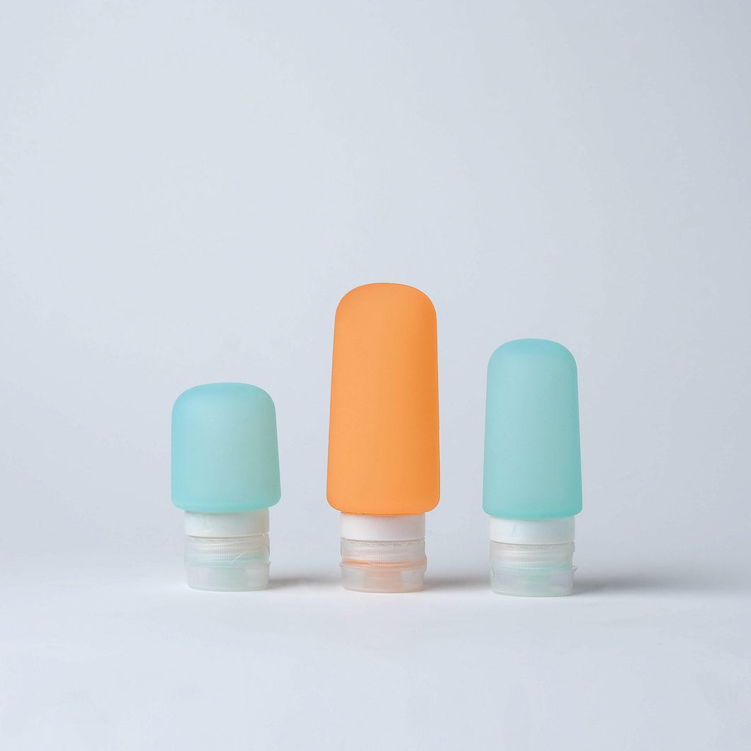 Silicone Travel Toiletry Bottle (Set of 3)
