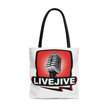 "Load image into Gallery viewer, Official Bill Chott's ""Live Jive"" Tote Bag"