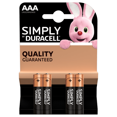 BATTERIE MINI STILO DURACELL AAA - BLISTER DA 4