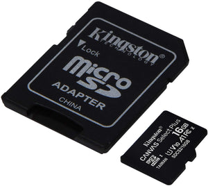 Kingston Memory Card Micro SD 16GB C10 SDCS2/16GB Canvas Select Plus