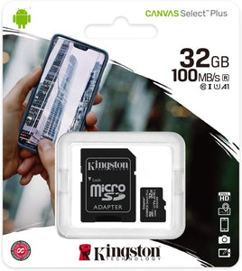 Kingston Memory Card Micro SD 32GB C10 SDCS2/32GB Canvas Select Plus