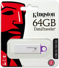Load image into Gallery viewer, Kingston Pen Drive 64GB DTI-G4 3.0 DTIG4/64GB