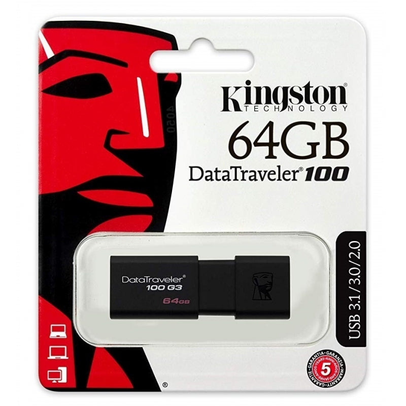 Pen Drive Kingston 64GB  DataTraveler100
