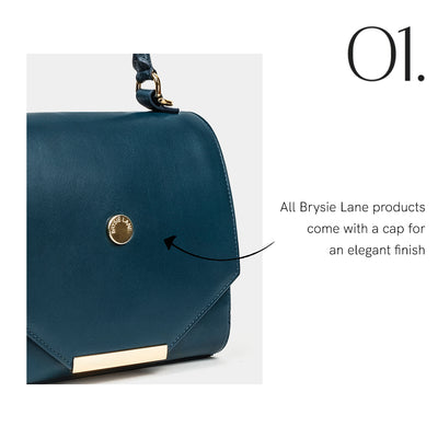 Step 1 description - all Brysie Lane products come with a cap for an elegant finish.