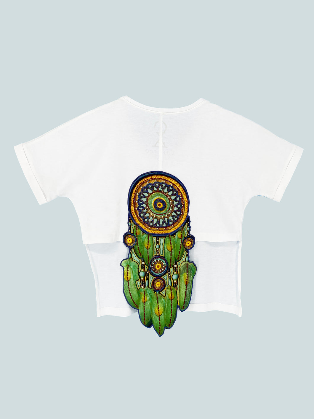 Green Dreamcatcher Crop Top