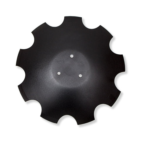 "Scalloped Disc 18"" Flat back"