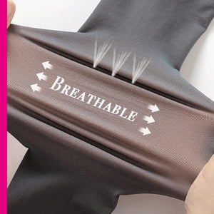 Faux-Sheer Fleece Lined Pantyhose