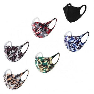 6 Pack: Fun Prints and Black Reusable Fabric Face Masks - 9 Options