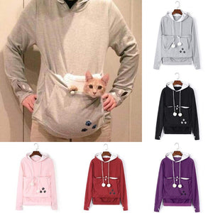 Cat Lovers Hoodie Cuddle Pouch Plus Size Hoodies