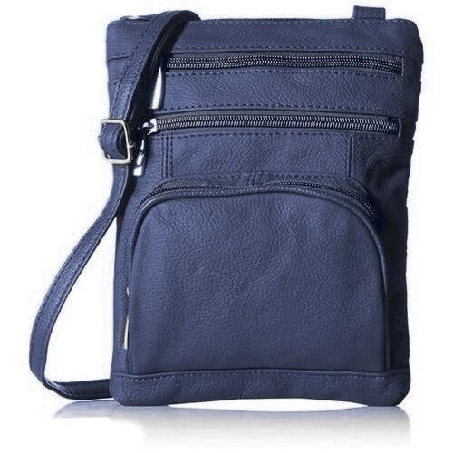 Super Soft Leather Crossbody Bag - 2 Size Options