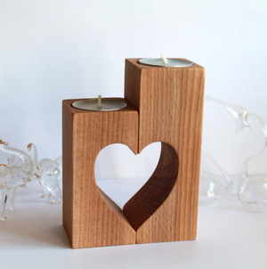 Handmade Wooden Desktop Candle Holder