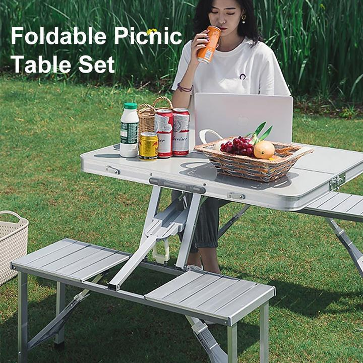 Foldable Picnic Table Set