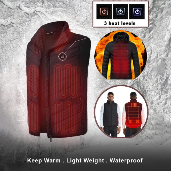 (Christmas Promotion-50% OFF )-Unisex Waterproof Warming Heated Vest