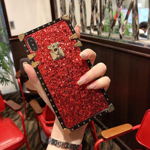 French Style Vintage Glitter Phone Case